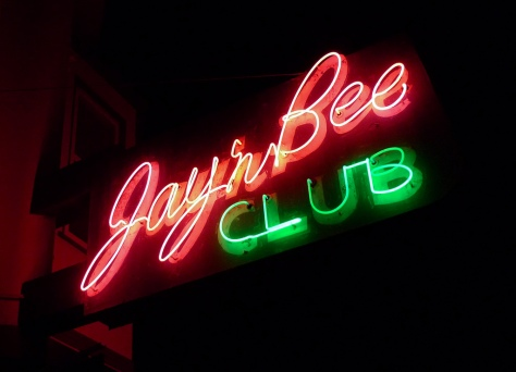 JaynBee sign neon
